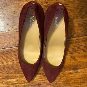 Michael Kors Wine Colored Suede Pump